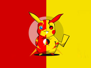 Pikachu x Flash wallpaper