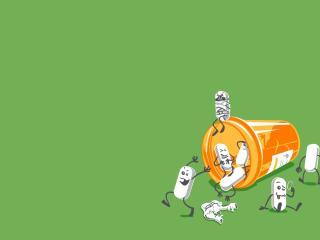 pills, jar, running away wallpaper