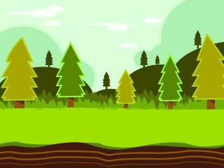 Pine Trees Vector Art wallpaper