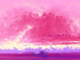 Pink Cloud Amazing Artistic Landscape wallpaper