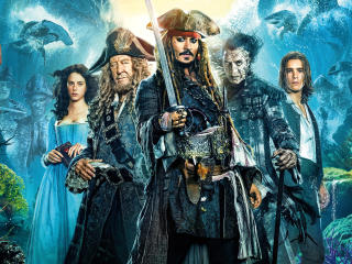 Pirates Of The Caribbean Dead Men Tell No Tales Movie Cast Poster wallpaper