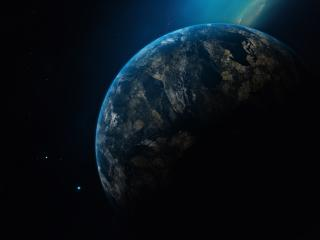 HD Wallpaper | Background Image Planet Earth in Dark Universe