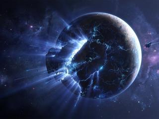 Planet Explode wallpaper