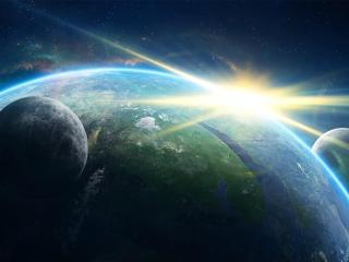 planet, galaxy, light wallpaper