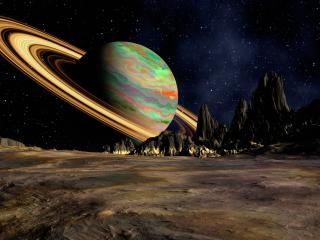 planet, saturn, space wallpaper