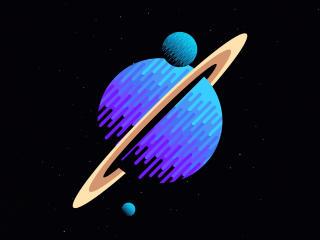 Planetary Ring Minimal Art wallpaper
