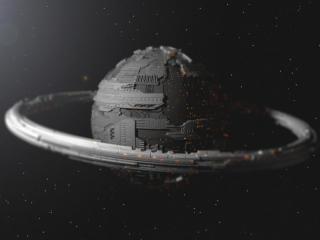 Planetary Ring Sci Fi wallpaper