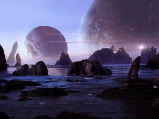 Planets Colliding wallpaper
