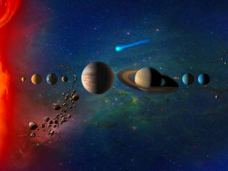 Planets In Solar System Galaxy wallpaper