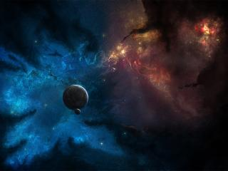 planets, stars, space wallpaper