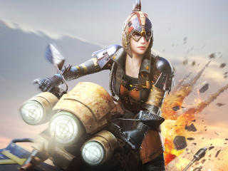 Playerunknown's Battlegrounds Woman Warrior wallpaper