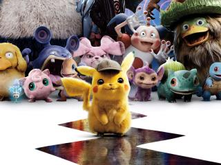 Pokemon Detective Pikachu Characters and Pokemon wallpaper