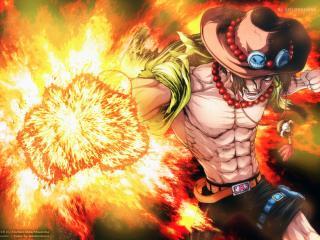 Portgas Ace One Piece Cool Art wallpaper
