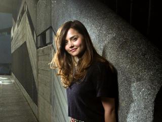 Pretty Jenna Coleman Smiling wallpaper