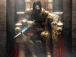Prince of Persia in Throne with knife wallpaper