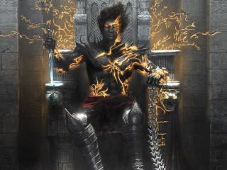 prince of persia, knife, throne wallpaper