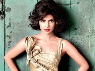 Priyanka Chopra Beautiful Golden Dress Photos wallpaper