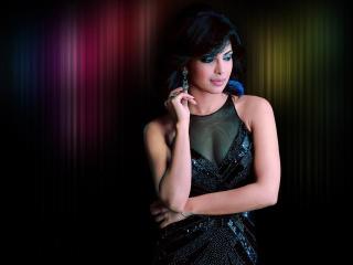Priyanka Chopra In Black Sexy Latest Wallpaper  wallpaper