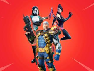 Psylocke, Cable and Domino Fortnite wallpaper