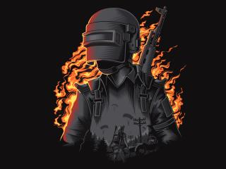 HD Wallpaper | Background Image PUBG Fire Illustration