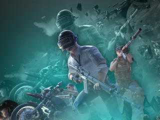PUBG Mobile Death Race Art wallpaper