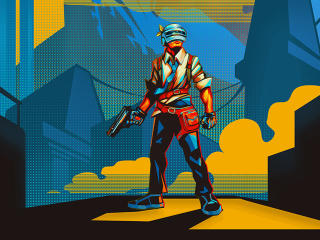 PUBG Player Retro Art wallpaper