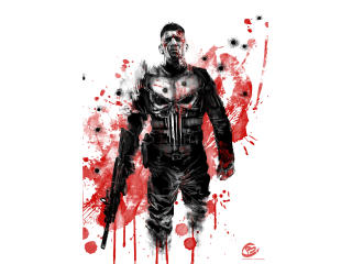 Punisher 4K Art wallpaper