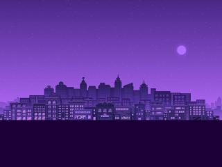 Purple City wallpaper