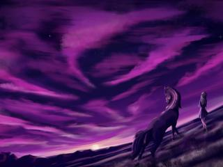 Purple Cool Sunrise wallpaper