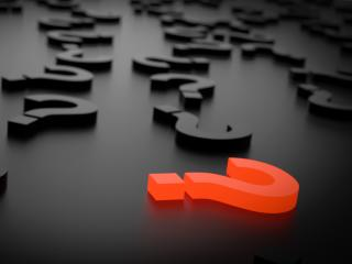 question marks, 3d, shape wallpaper