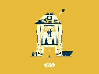 R2 D2 Star Wars Minimalist wallpaper