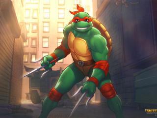 Radical Raphael Loki TMNT x Smite wallpaper