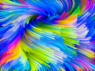 Rainbow Paint Splash wallpaper