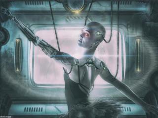 Ralf Dettler As Cyborg Machine Art wallpaper