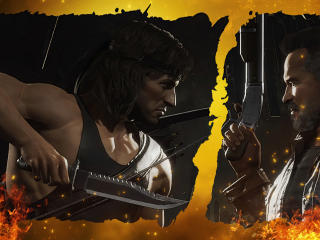 Rambo Vs Terminator Mortal Kombat 4K wallpaper