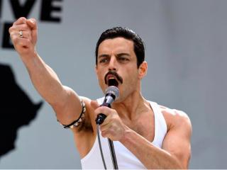Rami Malek As Freddie Mercury in Bohemian Rhapsody Movie wallpaper