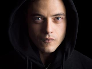 Rami Malek Mr Robot In Hood wallpaper