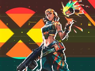 Raze Valorant Xbox wallpaper