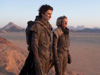 Rebecca Ferguson & Timothee Chalamet Dune 2020 wallpaper