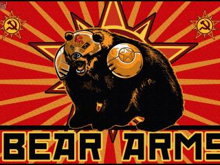 red alert 3, bear arms, red wallpaper