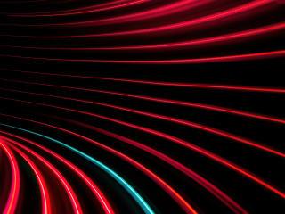 Red And Black Swirl Pattern 5K wallpaper