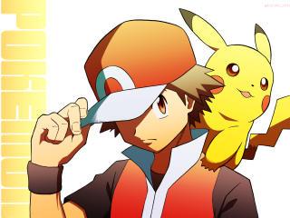 Red and Pikachu Pokémon wallpaper