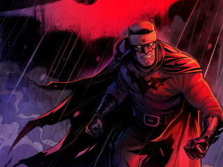 Red Batman DC 4K Art wallpaper