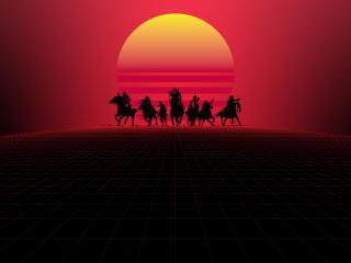 Red Dead Redemption 8k Minimal wallpaper