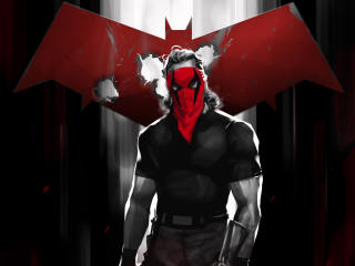 Red Hood Comic Digital Art wallpaper