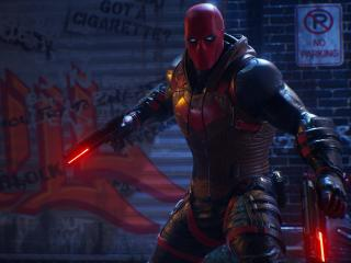 Red Hood Gotham Knights Game wallpaper