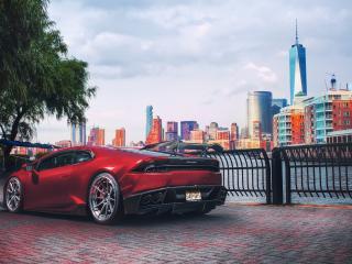 HD Wallpaper | Background Image Red Lamborghini Huracan Supercar Vehicle