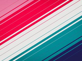 Red White Teal Stripes wallpaper