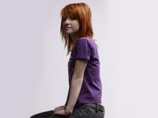 redhead, girl, t-shirt wallpaper