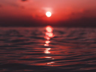Reflection Of Sunset On Water wallpaper